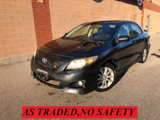 Used 2009 Toyota Corolla S, REBUILT TITLE, PRICE FIRM for sale in Oakville, ON