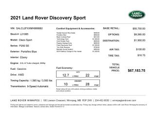 New 2021 Land Rover Discovery Sport R-Dynamic SE for sale in Winnipeg, MB