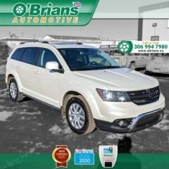 Used 2017 Dodge Journey Crossroad - Accident Free w/AWD, Command Start, Navigation, Leat for sale in Saskatoon, SK