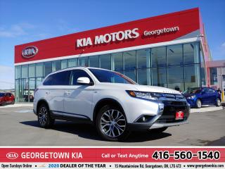 Used 2017 Mitsubishi Outlander GT | 7 PASS | LTHR | B/U CAM | ROOF | B/T | 100 K for sale in Georgetown, ON