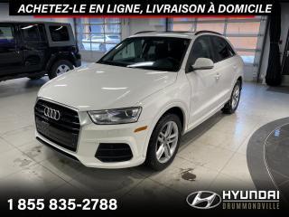 Used 2017 Audi Q3 QUATTRO + GARANTIE + TOIT PANO + WOW !! for sale in Drummondville, QC