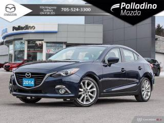 Used 2014 Mazda MAZDA3 GT-SKY - NEW FRONT BRAKES - DEALER SERVICED for sale in Sudbury, ON