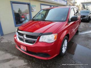Used 2013 Dodge Grand Caravan POWER EQUIPPED SE MODEL 7 PASSENGER 3.6L - V6.. ECON-PACKAGE.. CAPTAINS.. FULL STOW-N-GO.. DVD PLAYER.. BACK-UP CAMERA.. BLUETOOTH SYSTEM.. for sale in Bradford, ON