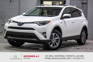 Used 2018 Toyota RAV4 HYBRIDE XLE AWD; TOIT CAMERA ANGLES MORT MAGS TSS BAS KILOMÉTRAGE - HYBRIDE - SIÈGES AVANT CHAUFFANT - VOLANT CHAUFFANT - MONITEUR ANGLES MORT for sale in Lachine, QC