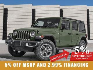 New 2021 Jeep Wrangler Unlimited Sport 80th Anniversary 4x4 for sale in Winnipeg, MB