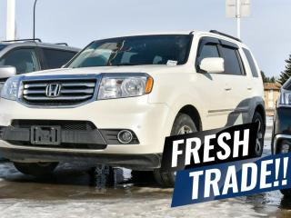 Used 2015 Honda Pilot TOURING 4WD | 8 PASSENGER SEATING | DVD ENTERTAINMENT | NAVIGATION | BACKUP CAMERA | HEATED FRONT + BACK ROW SEATS + TONS MORE!! for sale in Red Deer, AB