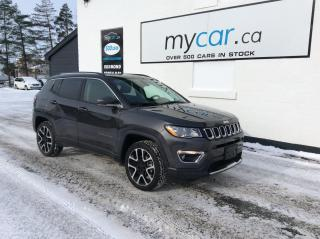 Used 2020 Jeep Compass Limited LEATHER, NAV, PANOROOF, MYCAR POWERBUY!! for sale in North Bay, ON