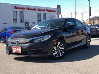 Used 2016 Honda Civic Sedan EX  - Sunroof - Lane watch - Rear Camera for sale in Mississauga, ON