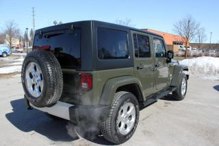 Used 2015 Jeep Wrangler Unlimited SAHARAH/AWD/NAVI/TWO TOP/LEATHER INTERIOR/ACCIDENT CLEAN for sale in Newmarket, ON