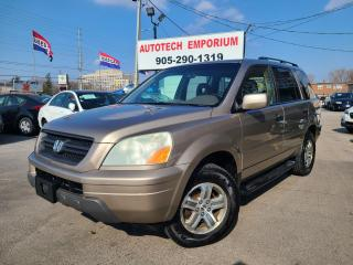 Used 2004 Honda Pilot leather htd seats, 4WD, alloys Trade in special for sale in Mississauga, ON