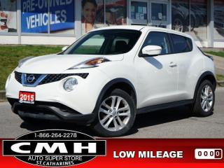 Used 2015 Nissan Juke S  CAM BLUETOOTH S/W-AUDIO 17-AL for sale in St. Catharines, ON