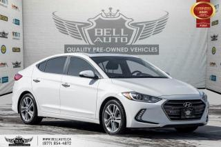 Used 2017 Hyundai Elantra Limited, NAVI, REAR CAM, LEATHER, B.SPOT, SUNROOF for sale in Toronto, ON