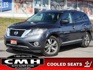 Used 2014 Nissan Pathfinder Platinum  NAV CAM DVD ROOF LEATH 20-AL for sale in St. Catharines, ON