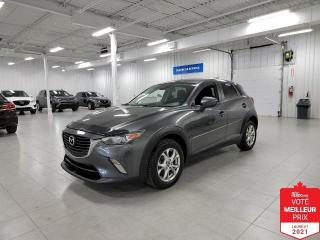 Used 2018 Mazda CX-3 GS AWD - CAMERA + S. CHAUFFANTS + JAMAIS ACCIDENTE for sale in St-Eustache, QC