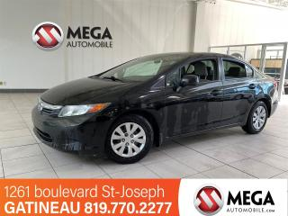Used 2012 Honda Civic LX for sale in Gatineau, QC
