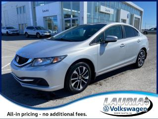 Used 2015 Honda Civic Sedan EX Auto - LOW KMS for sale in PORT HOPE, ON