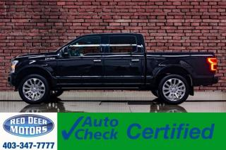 Used 2018 Ford F-150 4x4 Super Crew Limited Level Kit Leather Roof Nav for sale in Red Deer, AB