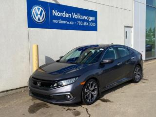Used 2019 Honda Civic Sedan TOURING - NAVI / LEATHER / SUNROOF / LOADED! for sale in Edmonton, AB