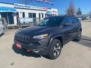 Used 2016 Jeep Cherokee Trailhawk-4x4-Navi-Lthr-Accident Free for sale in Stoney Creek, ON