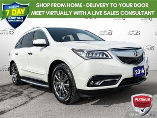 Used 2016 Acura MDX TECHNOLOGY PACKAGE SH-AWD for sale in St Thomas, ON