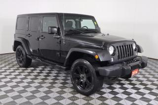 Used 2014 Jeep Wrangler Unlimited Sahara 4X4 | LEATHER | HEATED SEATS | 6.5-INCH SCREEN for sale in Huntsville, ON
