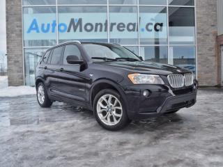 Used 2013 BMW X3 X3 xDrive 28i SIÈGES CHAUFFANTS EN CUIR TOIT PANORAMIQUE BAS KM for sale in Vaudreuil-Dorion, QC