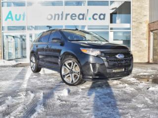 Used 2013 Ford Edge Sport SPORT AWD V6 SIÈGES CHAUFFANTS EN CUIR TOIT PANORAMIQUE BAS KM for sale in Vaudreuil-Dorion, QC
