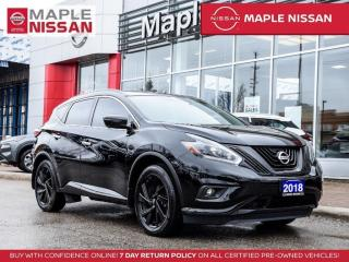 Used 2018 Nissan Murano SL AWD Navi Blind Spot Pano Moonroof Apple Carplay for sale in Maple, ON