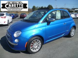 Used 2015 Fiat 500 C Lounge Décapotable for sale in East broughton, QC
