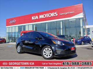 Used 2016 Kia Rio LX | CLN CRFX | 6 SPD M/T | B/TOOTH | 55,877 KM | for sale in Georgetown, ON