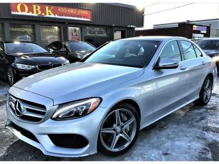 Used 2017 Mercedes-Benz C-Class AMG AMG PACKAGE-C 300-4MATIC-NAVIGATION-TOIT PANO-CAM for sale in Laval, QC