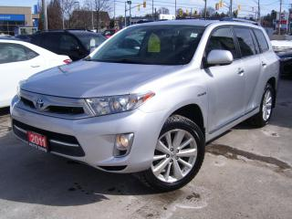 Used 2011 Toyota Highlander Hybrid LIMITED,AWD,NAVI,BLUETOOTH,BACKUP CAMERA,LEATHER, for sale in Kitchener, ON