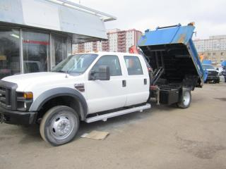 Used 2009 Ford F-450 Super Duty DRW 2WD Crew Cab 4 door 6 pass crane salter for sale in North York, ON