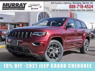 New 2021 Jeep Grand Cherokee 80th Anniversary Edition 4x4 for sale in Winnipeg, MB