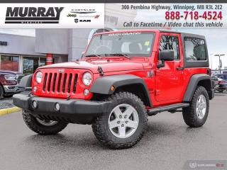 Used 2016 Jeep Wrangler 4WD 2dr Sport *Hard Top   Automatic   New Tires* for sale in Winnipeg, MB