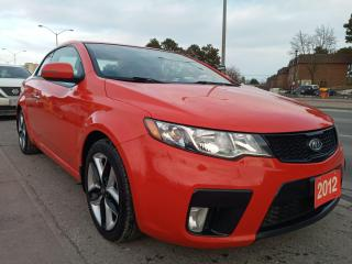 Used 2012 Kia Forte Koup SX-ONLY 115K-LEATHER-NAVI-SUNROOF-AUX-USB-ALLOYS for sale in Scarborough, ON