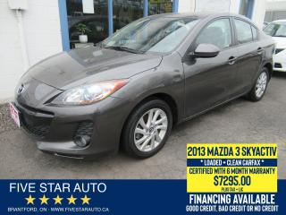 Used 2013 Mazda MAZDA3 GS-SKY *Clean Carfax* Certified w/ 6 Month Warrant for sale in Brantford, ON