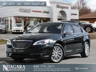 Used 2013 Chrysler 200 Limited | Sun and Sound Package for sale in Niagara Falls, ON