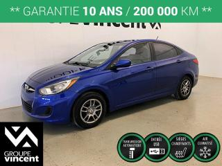 Used 2013 Hyundai Accent GL ** GARANTIE 10 ANS ** Économique et pratique! for sale in Shawinigan, QC