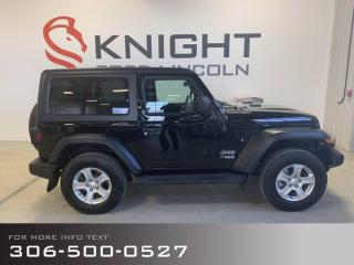 Used 2019 Jeep Wrangler SPORT for sale in Moose Jaw, SK