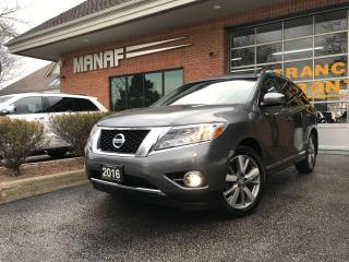 Used 2016 Nissan Pathfinder 4WD Platinum Panoramic Sunroof Navi R.Starter Cer* for sale in Concord, ON