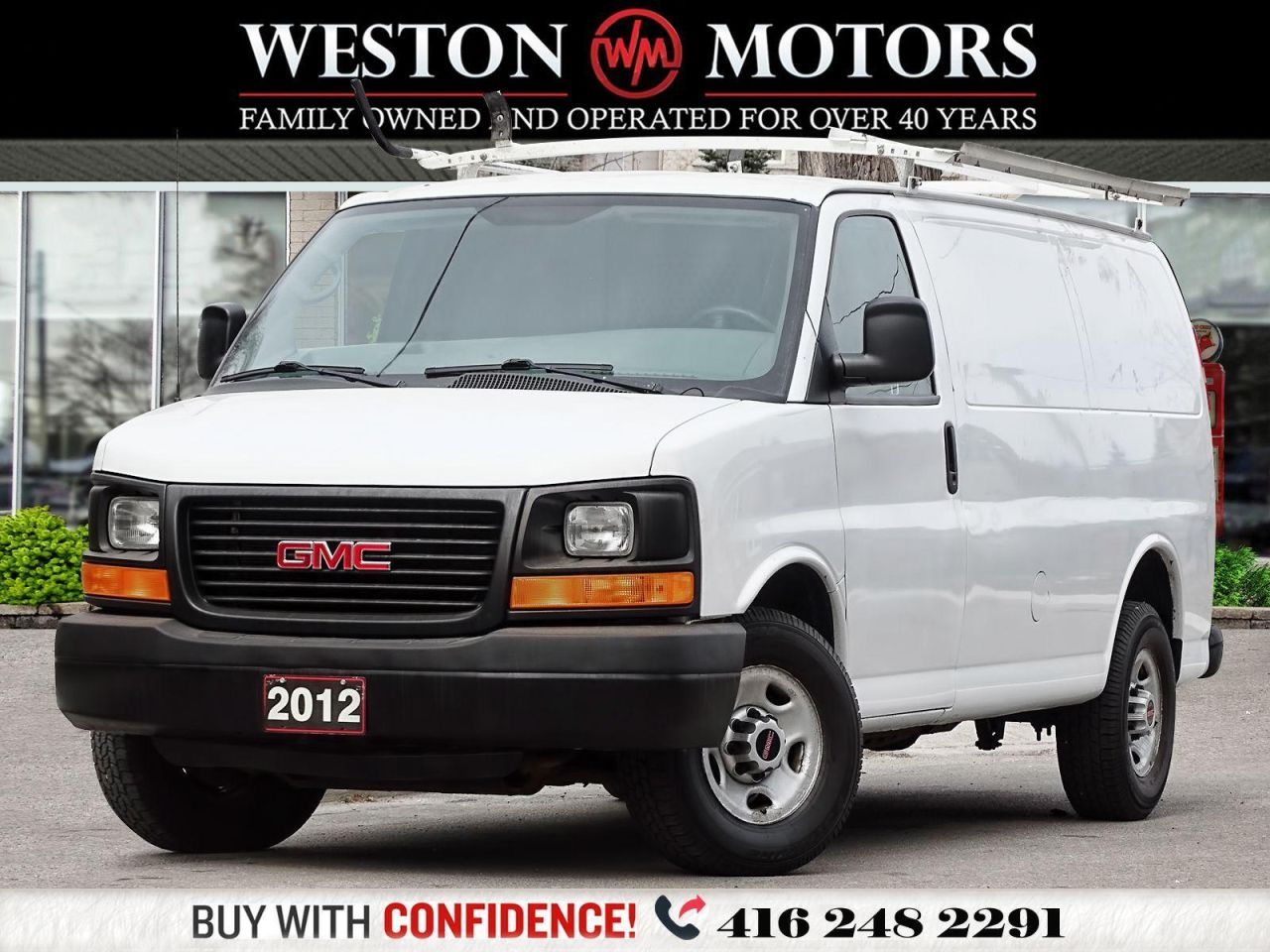 2012 GMC Savana 4.8L*ROOF RACK*SHELVING*POWER WINDOWS & CONTROLS