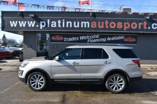 Used 2017 Ford Explorer Limited NO ACCIDENTS!! LEATHER!! HEATED FRONT AND SECOND ROW SEATS!! POWER FOLDING REAR SEATS!! LOADED!! for sale in Saskatoon, SK