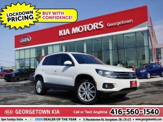 Used 2017 Volkswagen Tiguan COMFORTLINE | LTHR | PANO ROOF | B/T | 79K| BU CAM for sale in Georgetown, ON