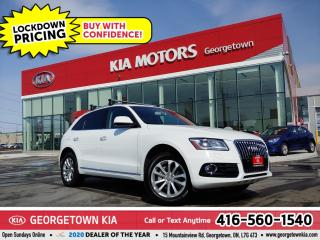 Used 2017 Audi Q5 Progressiv | LTHR | NAV | PANO ROOF | B/T | BU CAM for sale in Georgetown, ON