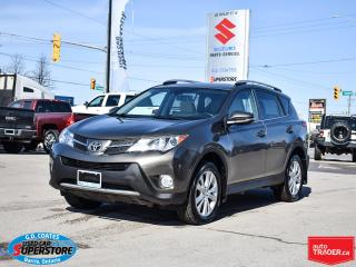 Used 2014 Toyota RAV4 Limited AWD ~Nav ~Cam ~Heated Leather ~Moonroof for sale in Barrie, ON