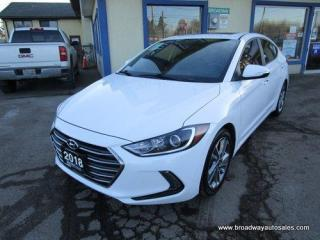 Used 2018 Hyundai Elantra LOADED LIMITED EDITION 5 PASSENGER 1.8L - DOHC.. DRIVE-MODE-SELECT.. LEATHER.. HEATED SEATS & WHEEL.. POWER SUNROOF.. BACK-UP CAMERA.. for sale in Bradford, ON