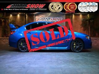 Used 2018 Subaru WRX STI Sport-Tech 6 M/T w. S.Roof & Htd Recaro Seats !! for sale in Winnipeg, MB