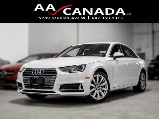 Used 2019 Audi A4 CLEAN CARFAX|LEATHER|SUNROOF|BACK UP CAM| for sale in North York, ON