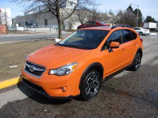 Used 2014 Subaru XV Crosstrek Premium ~ MANUAL ~ LEATHER ~ NAV ~ REAR CAM for sale in Toronto, ON